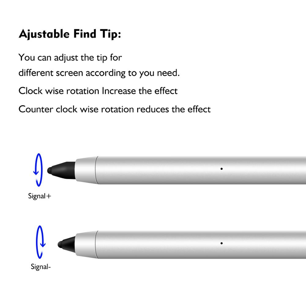 lingchen Auto Sleep adjustable micro USB charging metal stylus Touch Pen 3