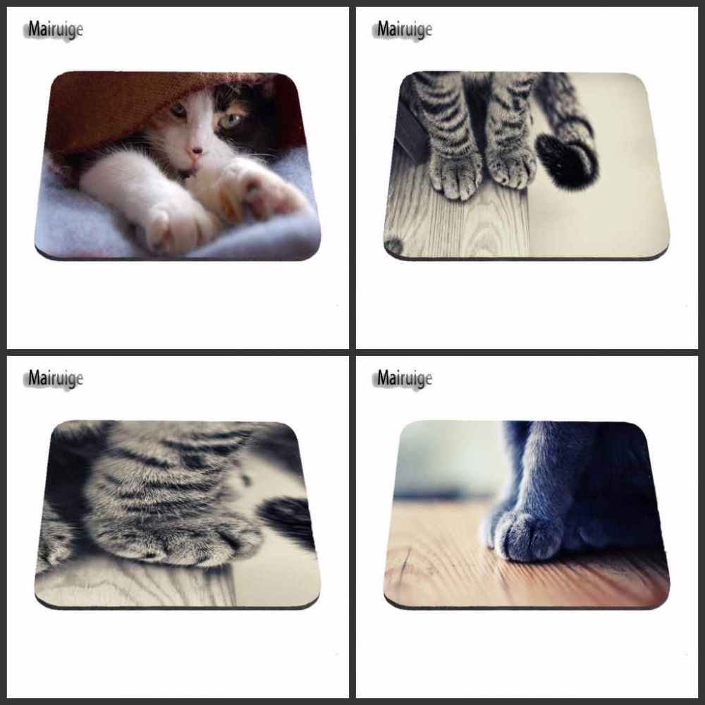 Luxury Printing Cute Cat Custom Design Durable Game Gaming PC Anti-slip Mouse Mat Overlock Mouse Pad and Round Mouse Pad