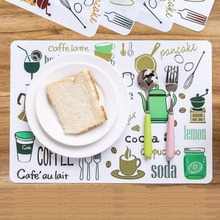 New Fashion PVC Dining Table Cartoon Placemat Europe Style Kitchen Tool Waterproof Tableware Pad Coaster Coffee Tea Place Mat flower pattern dining table placemat pastoral style tableware pad coaster coffee tea place mat kitchen decoration accessories