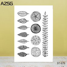 AZSG Various Spotted Leaves Clear Stamps/Seals For DIY Scrapbooking/Card Making/Album Decorative Silicone Stamp Crafts