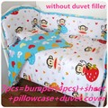 Discount! 6/7pcs baby bedding set crib bumper baby bed set cartoon baby crib set ,120*60/120*70cm