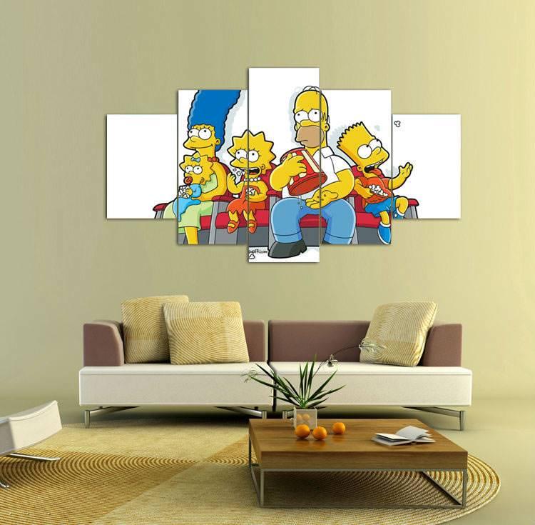 Grupo de Arte de la Pared Pintura enmarcada Impresa de Dibujos ...