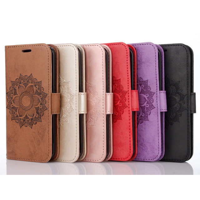 Leather Case for Samsung Galaxy S7 G930 G930f SM-G930f / S7 Edge G935 G935f SM-G935f Flip Wallet Holder mandala Mobile Cover