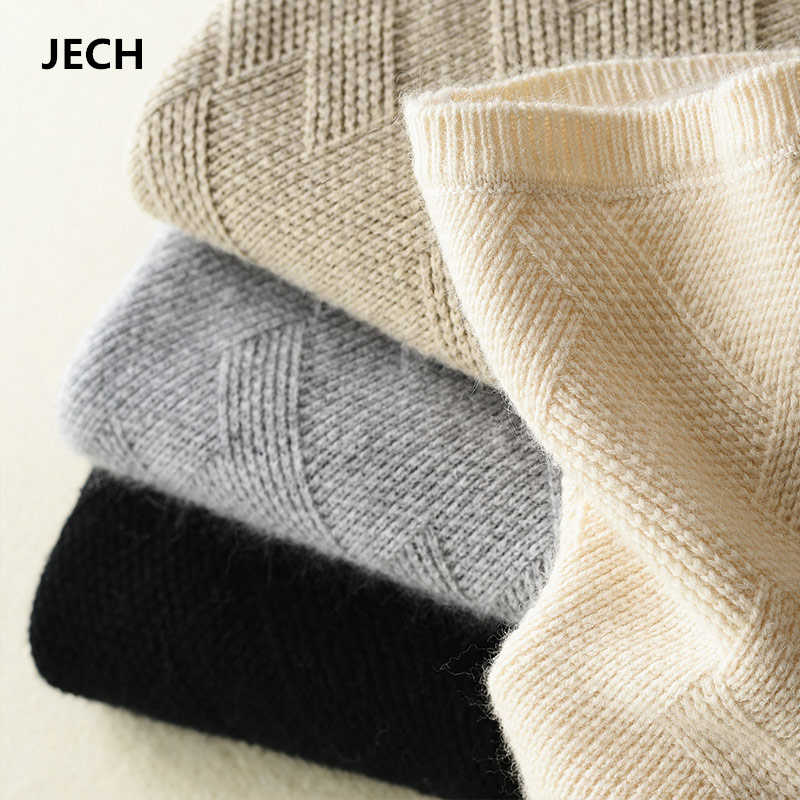 2018 Cashmere Sweaters for Women Autumn-Winter Women Cashmere Wool Geometric Knitted Warm Sweaters Pullovers Women Sweaters