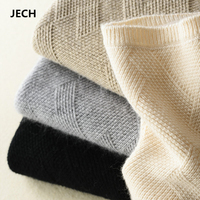 2018 Cashmere Sweaters for Women Autumn Winter Women Cashmere Wool Geometric Knitted Warm Sweaters Pullovers Women Sweaters