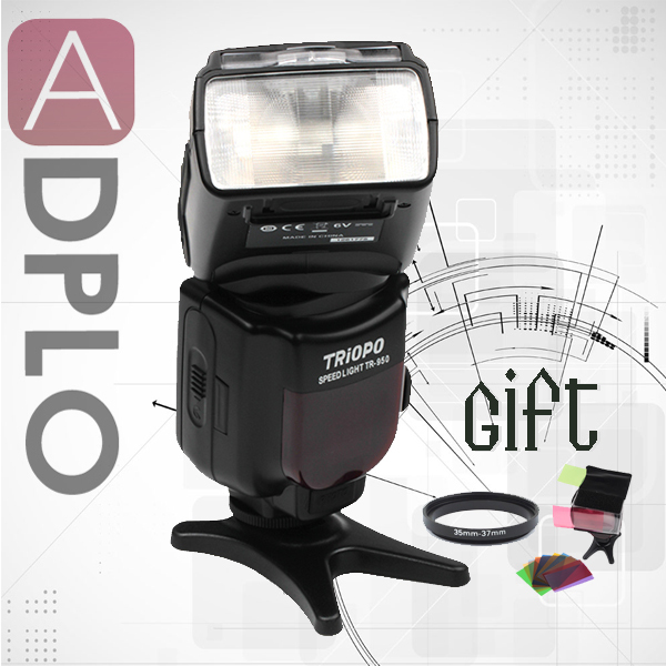 Buy 1 get 2 gift !!Triopo TR-950 Universal Mount Flash Speedlite TR950 suit For Canon/Nikon camera image