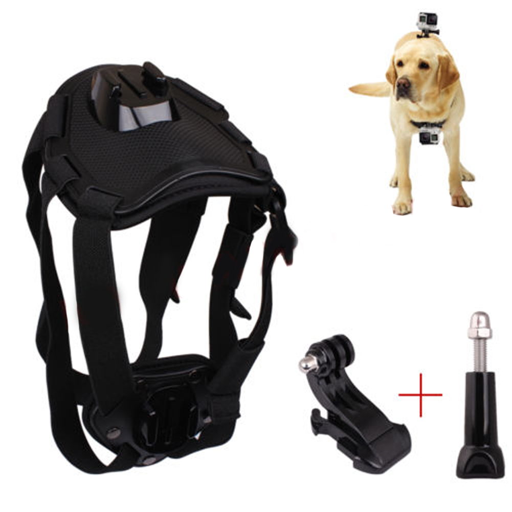 цена на Dog Harness Chest Mount for Gopro hero 3 4 Go pro Camcorder Hound Pets Chest Strap Belt Mount for SJCAM SJ4000 Xiao yi camera 33