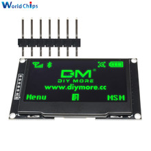 "Diymore ירוק 2.42 ""2.42 אינץ LCD מסך 128x64 OLED תצוגת מודול IIC I2C SPI סידורי 12864 OLED תצוגה עבור C51 STM32 SPD0301"