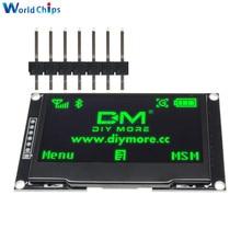"diymore Green 2.42"" 2.42 inch LCD Screen 128x64 OLED Display Module IIC I2C SPI Serial 12864 OLED Display for C51 STM32 SPD0301"