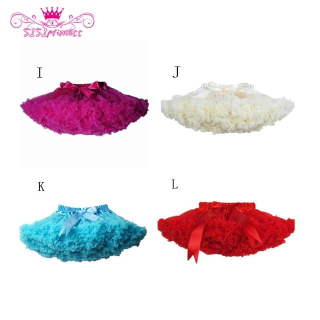 Sisiprincess New 2015 Hot 21 Colors Vintage dusty pink/Silver gray Baby Girl Fluffy Pettiskirt Girls Tutu Skirt Kids Petticoat 4