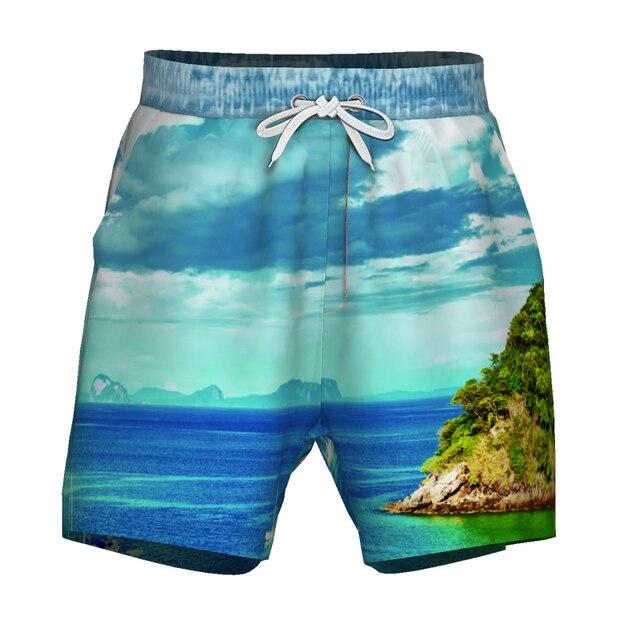 Homens Praia Shorts Board Shorts Underwear Cuecas Verão Solto Elastic Swimwear Natação Troncos Ilha Nadar de Surf Esporte Maiô