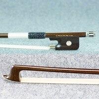 VingoBow Diamond Carbon Fiber Violin Bow Pernambuco Performance Master Level Warm Tone Ebony Frog Nickel Silver Fitted 140M