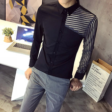 British Style Shirts Mens White Striped Lace Shirts Mens Black Gomlek DJ  Stage Costumes Party Wear fb807458a610