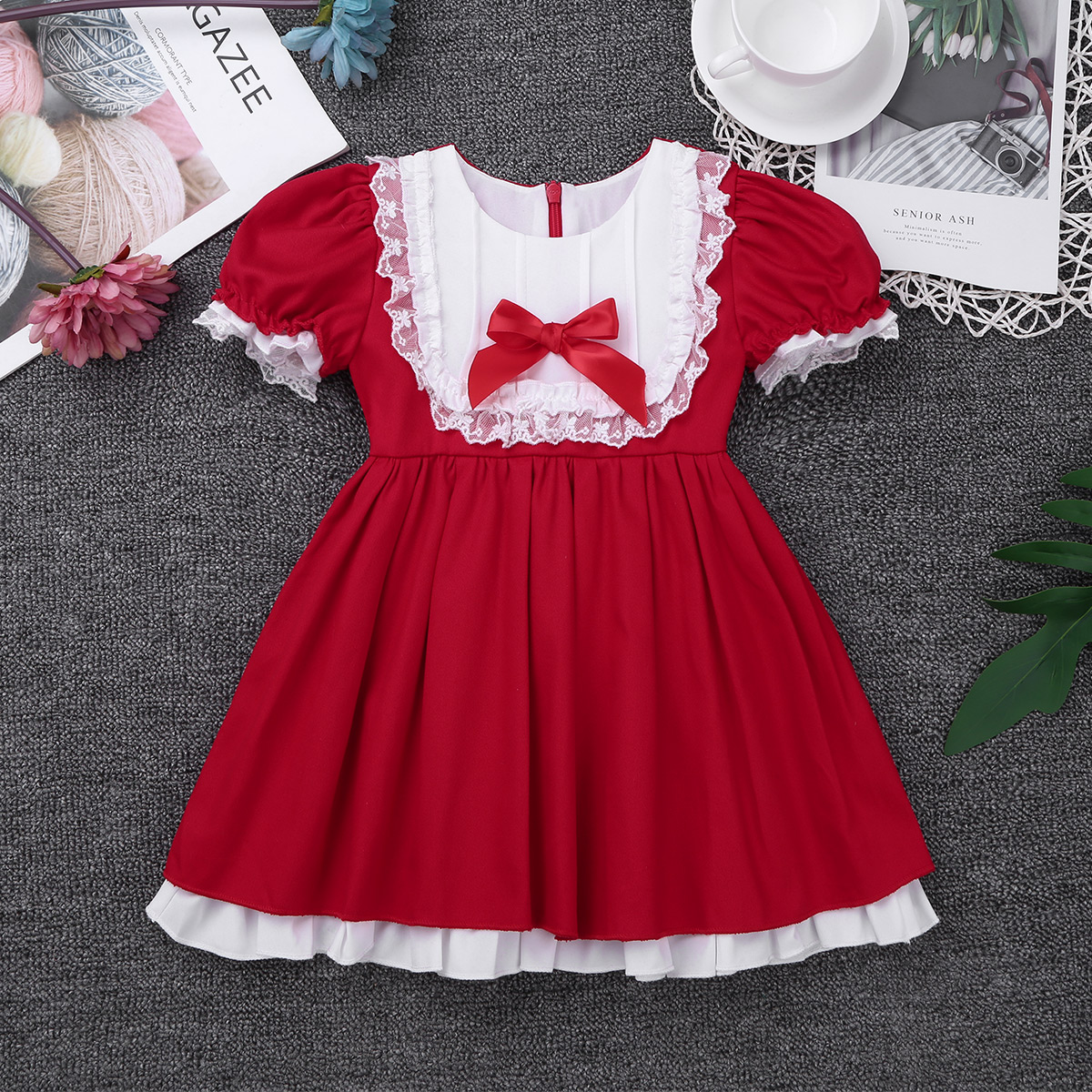 Iefiel Baby Christmas Dress Infant Girls Kids Toddler