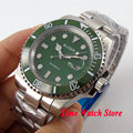 Bliger 40mm green dial luminous saphire glass green Ceramic Bezel Automatic movement  wristwatch