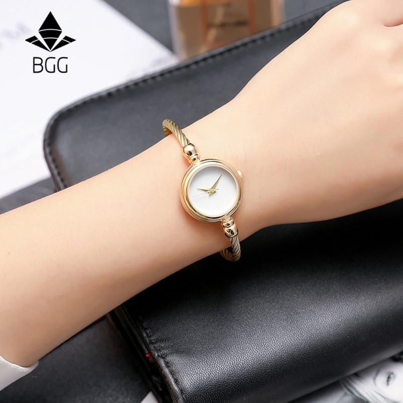 2017 BGG Top Nowa skórzana Lady Twórczy zegarek w stylu - Zegarki damskie - Zdjęcie 2