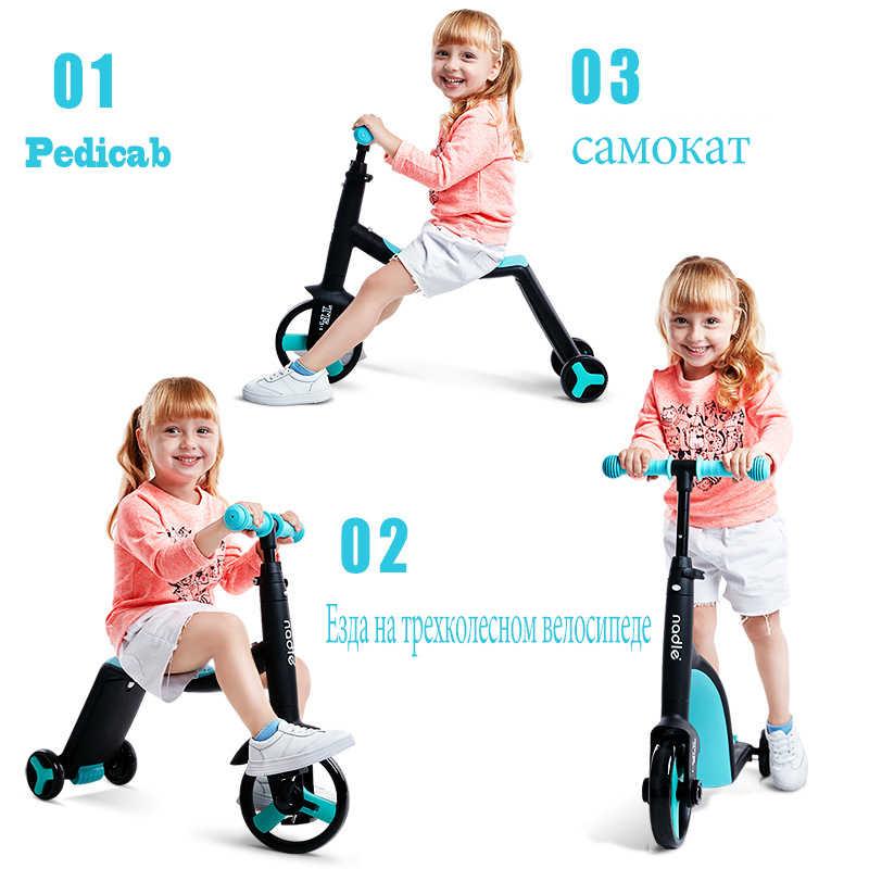 Nadle ch bam-bini di kick scooter scooter triciclo giocattolo auto bicicletta pieghevole da viaggio, adatto per i bambini sopra i 3 anni di età 2019