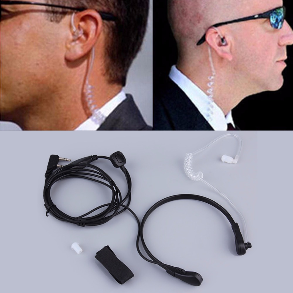 Hot Promotion New 2pin Security Throat Vibration Mic