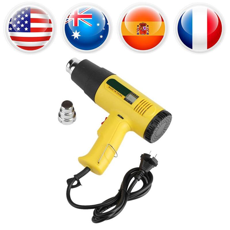 AC 220V Hot Air Heat Gun 2000W Electric Blower Hot/Cold Wind Heat Gun Adjustable Temperature Air Volume Heating Gun Power Tools