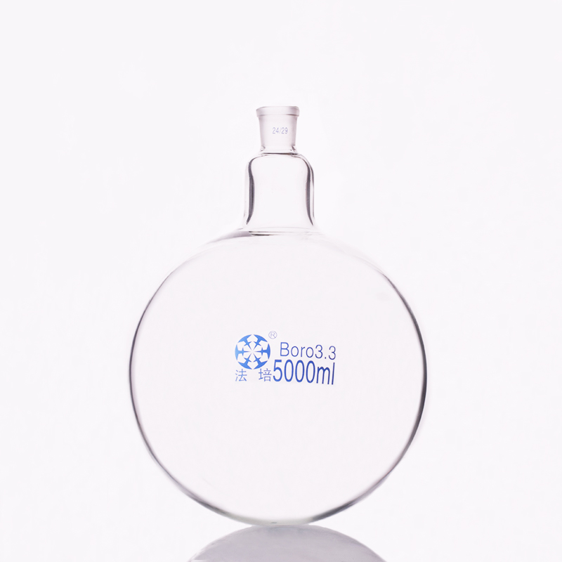 Single standard mouth round-bottomed flask,Capacity 5000ml and joint24/29,Single neck round flask все цены