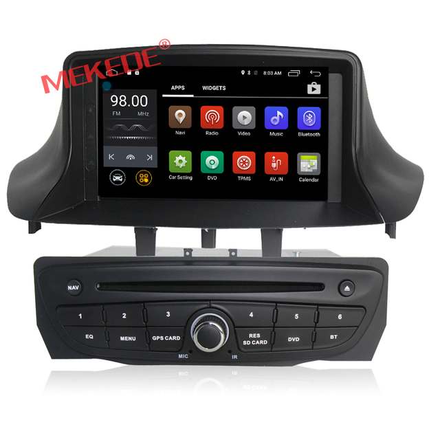 Quad Core Android 7.1  car dvd player For Megane II/Fluence (2009-2013) gps bluetooth radio stereo DVR 16G Map camera