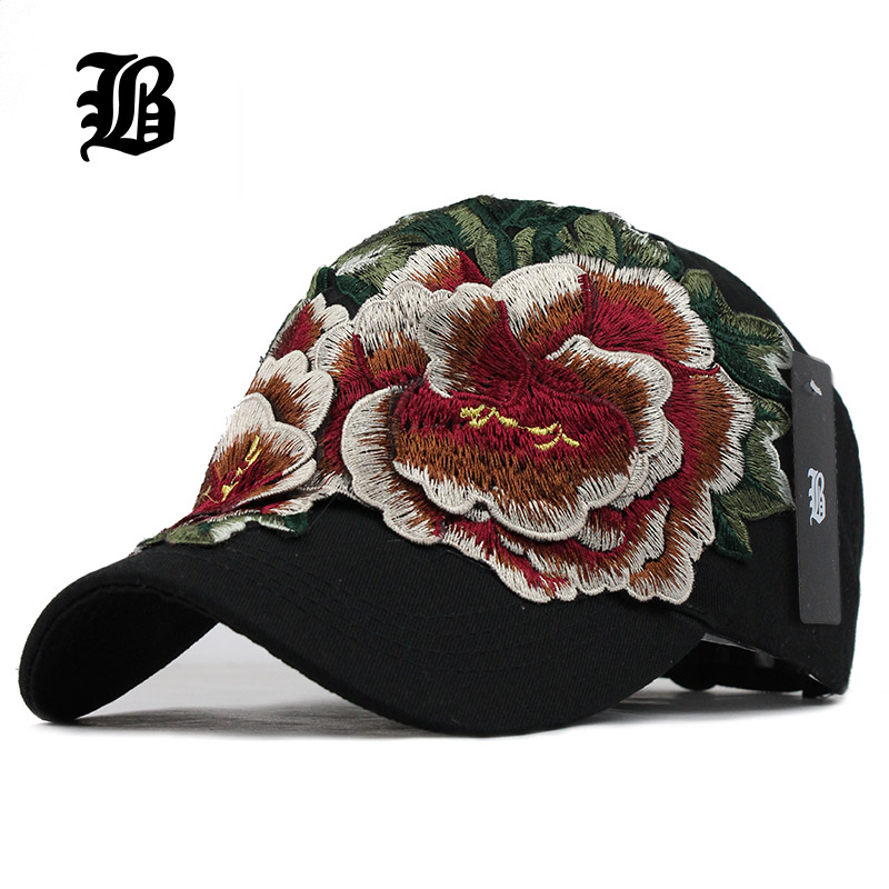 [FLB] women embroidery   baseball     caps   with Flower Hats for womens gorras fall Hat for womens jean Snapback   caps   Hip Hop Hat