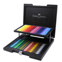 72Pcs/set Faber Castell Luxury Coconut Wood Case Colored Pencils High Quality Watercolour Pencil Oily Pen for Special Drawing