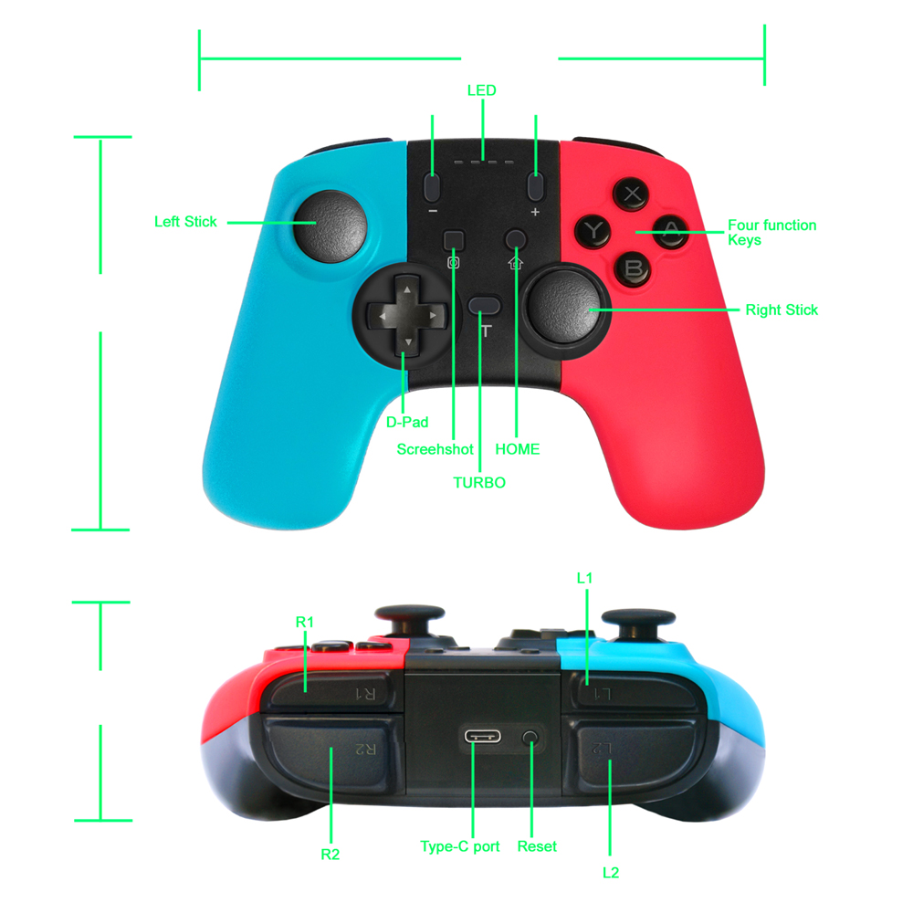 Image 5 - VIGRAND Wireless Bluetooth Pro for Nintend Switch Game Controller  Gamepad Joypad Remote Console Gamepads Joystick Gift Box CuteGamepads