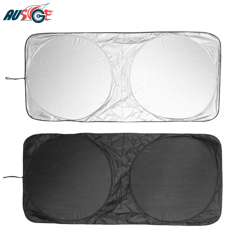 150 X 70cm Car Sunshade Sun Shade Front Rear Window Windshield Cover For Jaguar XF X-Type XE F E Pace XJ Guitar X350 XK S-Type