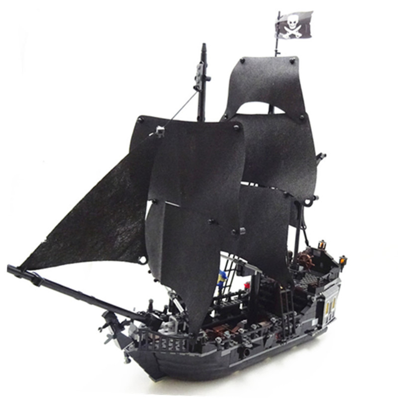 16006 804 pcs Pirates of the Caribbean The Black Pearl Pirate Ship Model set Building Compatible Lego Kits bricks Toys for 4184