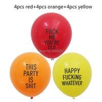 500lot wholesale 12pcs/lot abusive balloons funny rude Badass balloon Bachelorette Party Decorations