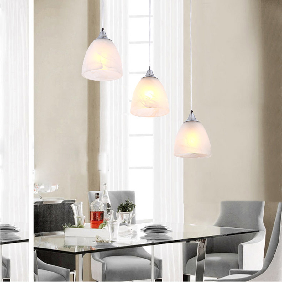 Simple and stylish 80 cm tall chandelier white LED Bar Kitchen Hall chandelier simple cm 379