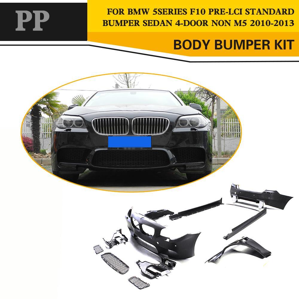 Kits de réglage automatique PP kit de carrosserie avec ailes pour BMW série 5 F10 520i 528i 530i 2011-2016