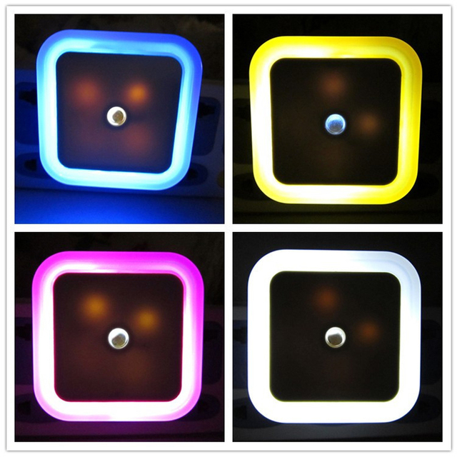Us 2 35 Gt Lite Newest Led Night Light With Control Auto Sensor For Home Indoor Art Lighting In White Yellow Blue Red Ac220v Eu