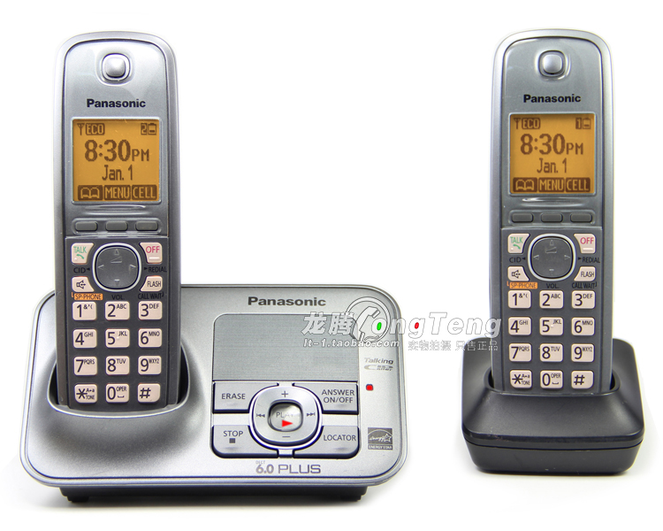 New Arrival KX-TG4131M DECT 6.0 Plus Cordless Telephone with Digital Answering System Home Phone Set, 2 Handsets
