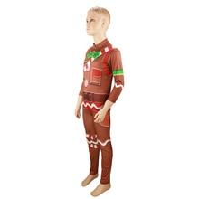 Gingerbread Costume Kids Streetwear Gingerbread Man Costumes Boys Jumpsuits Children Halloween Costumes for Kids набор ножей mayer