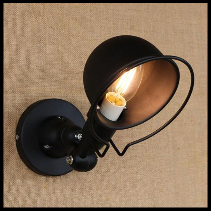 ФОТО vintage edison wall lamp industrial mechanical arm france jielde wall lamp reminisce retractable double black light
