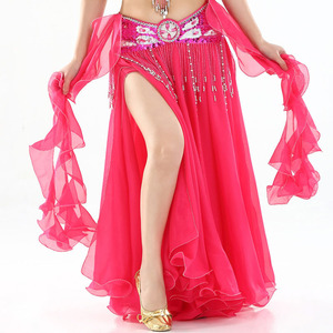 Image 5 - Belly Dance Skirts Women 2018 Dancing Long Maxi Skirts lady Sexy Oriental Belly Dance Skirt Bellydance Skirt(Without Belt)