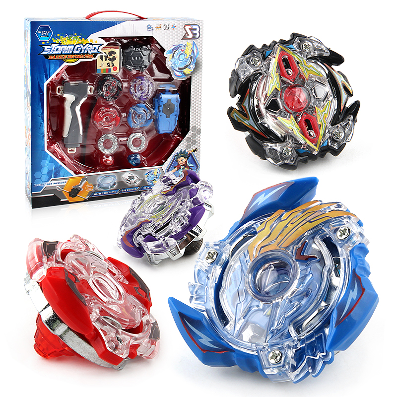 Original Package 1Set Beyblade Burst Fusion 4D Launcher Beyblade Spinning Top Set Kids G ...
