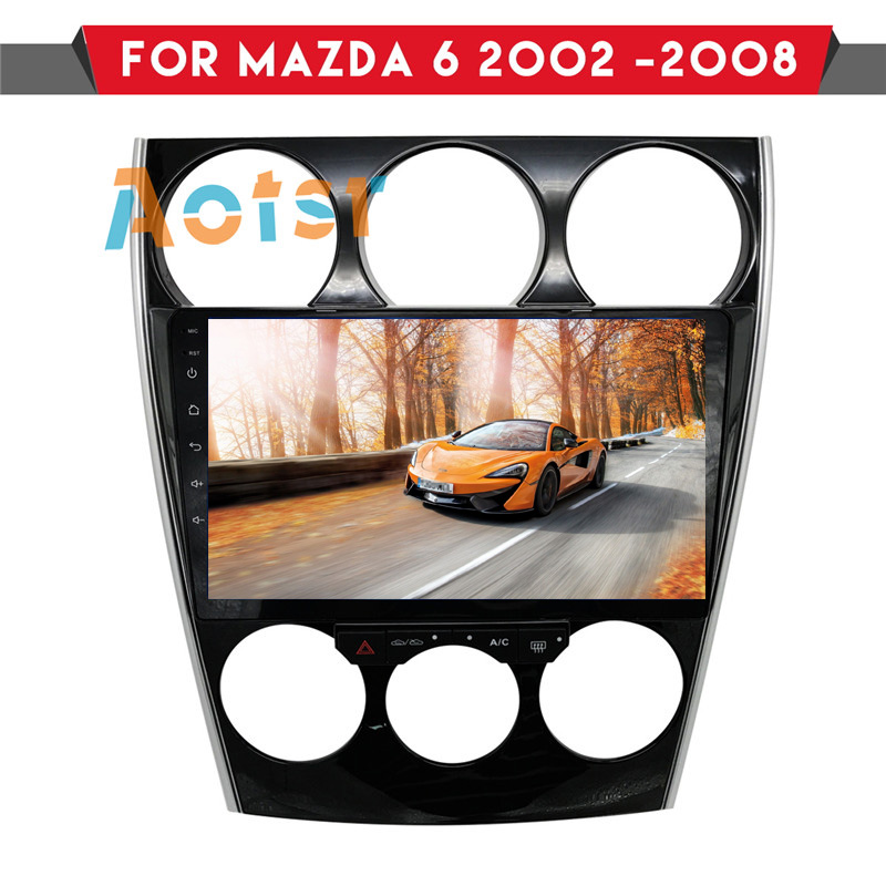 Car dvd Player for Mazda6 <font><b>Mazda</b></font> <font><b>6</b></font> 2002-2008 Android <font><b>GPS</b></font> navigation autostereo Console multimedia <font><b>system</b></font> Manual Auto compatible image