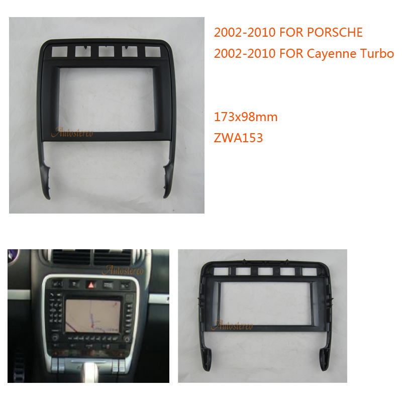 Autostereo Car Radio Fascia for Cayenne Turbo Stereo Dash Fitting Kit Installation Facia Face Plate Panel