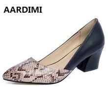 Горячая 2017 лоскутное змеиный принт Женская обувь Обувь на высоком каблуке в римском стиле весенние черные белые женские туфли-лодочки дизайнерская обувь на платформе