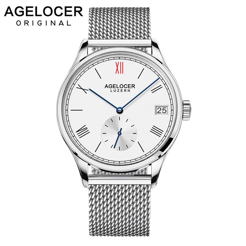 2019 AGELOCER famous Swiss brand male watches luxury mens automatic watch with stainless steel bracelet original gift watch box