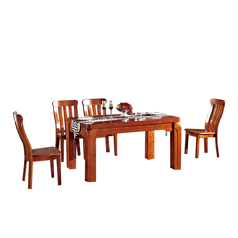 Furniture restaurant Solid wood combination rectangle 4 /6 people modern dining table