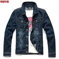 2017 long-sleeved denim jacket Leisure pure color lapel jacket