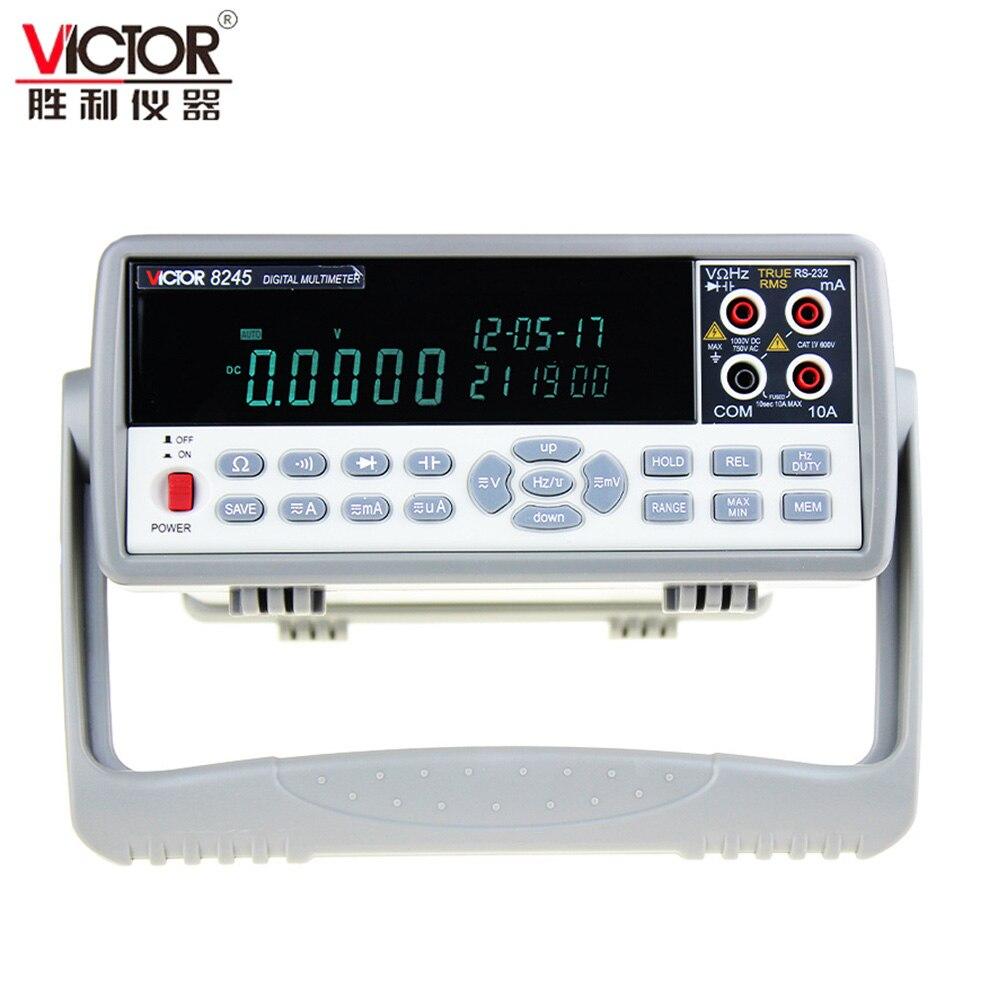 VICTOR VC8245 1000 v 4 1/2 De Bureau Numérique Multimètre précision Banc de bureau Multimètre multimetro Ture RMS USB testeur numérique