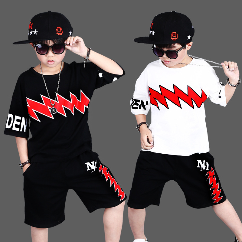 2018 Kids Clothes Boys 3 4 5 6 7 8 9 10 12 Years Toddler Boys Clothing Set Summer Baby Suit Shorts Children Clothing Sets Sport cheapest  10 items  5 suit clothes   5