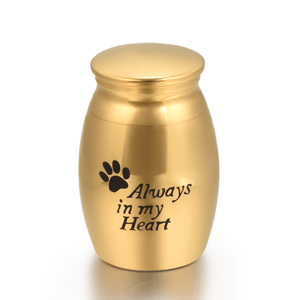 Gold Cremation Urn Memorial Urn Charm Remembrance Keepsakes for Ashes