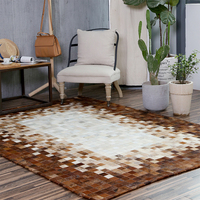Genuine Cowhide Patchwork Rug For Living Room Bedroom Extra Large Is 200*300cm Handmade For 100% Natural Cowhide Carpet QG10