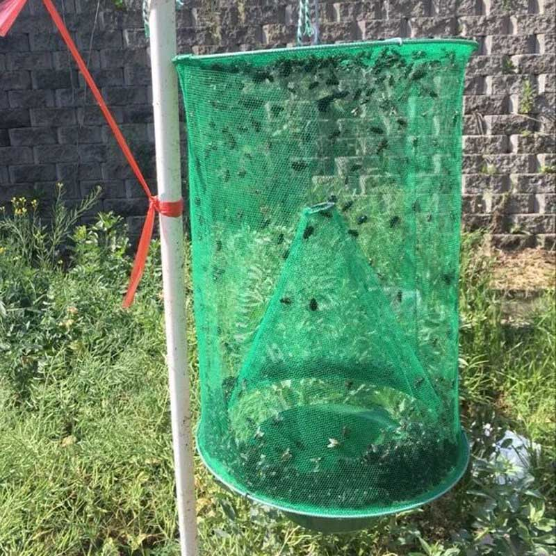 fly flies kill Trap Pest Control Reusable Hanging Fly Catcher Killer Flytrap Zapper Cage Net Trap crap device killer-flies